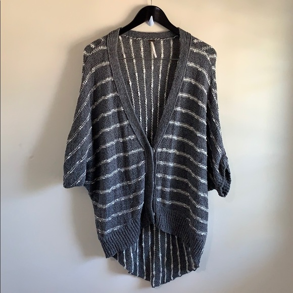Free People cable knit cardigan (3/4 sleeves)
